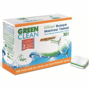 U GREEN CLEAN 30 LU BULAŞIK MAKİNASI TABLETİ