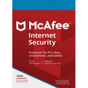 MCAFEE İNTERNET SECURİTY 2019 5 YIL 1 PC