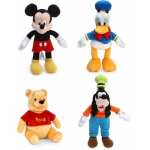 Orjinal Disney Mickey Mouse Donald Duck Winni The Pooh Goofy Mini Peluşlar 4 lü Set 20 cm
