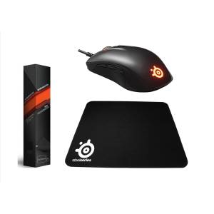 SteelSeries Rival 110 RGB Oyuncu Mouse  QcK Medium Mouse Pad