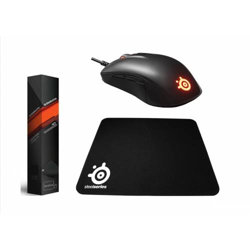 SteelSeries Rival 110 RGB Oyuncu Mouse  QcK Medium Mouse Pad 449585668