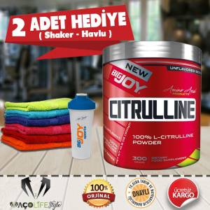 Big Joy Citrulline Powder 300 Gr  2 HEDİYE  S.K.T. 11.2020