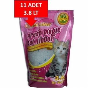 Fresh Magic Kristal-Silica Kedi Kumu 3.8 Lt 11 Adet