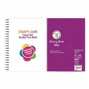 Craft And Arts Color 160 Gram 15 Yaprak Fon Blok 35x50