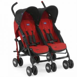 Chicco Echo Baston İkiz Bebek Arabası Garnet