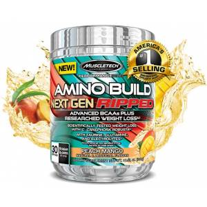 Amino Build Next Gen Ripped  30 Servis Peach Mango L-Carnitine L-Tartrate-L-Glutamine-Taurine-Cafei
