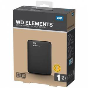 WD 2.5 1TB Elements Siyah USB3.0 WDBUZG0010BBK