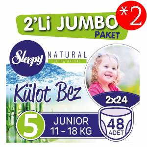 Sleepy Külot Bez 5 Beden-Numara 11-18 Kg Junior Naturel 48 Li 2 Paket 96 Adet