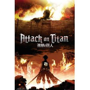 ATTACK ON TITAN KEY ART MAXI POSTER İTHAL