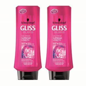 Gliss Saç Kremi Supreme Length 400ML 2'LI