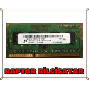 MICRON 4 GB DDR3L 1600 MHZ LAPTOP NOTEBOOK RAM BELLEK