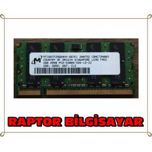 MICRON 2 GB DDR2 667 MHZ LAPTOP NOTEBOOK RAM BELLEK