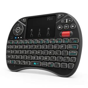 2018 Rii i8X 2.4GHz Mini Wireless Keyboard with Touchpad Mouse