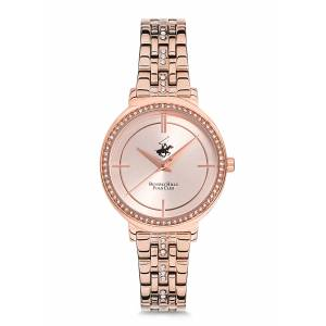 BEVERLY HILLS POLO CLUB BH9536-09 ROSE GOLD TAŞLI BAYAN KOL SAATİ