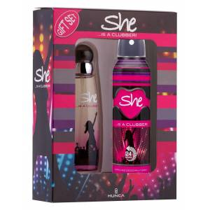 She İs A Clubber EDT 50ml  Deodorant 150ml Kadın Parfüm Seti