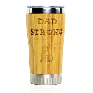 Dad Strong Stainless Steel Travel Coffee Mug