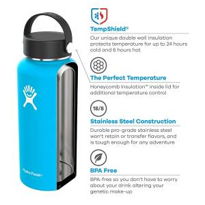 Hydro Flask Bottle Wide Mouth Flex Cap Cobalt 64 Ounce