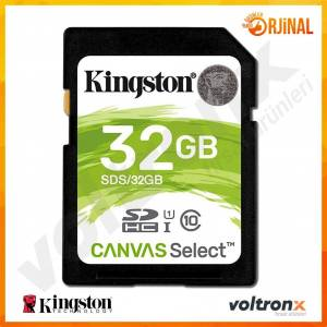 Kingston Canvas Select 32GB SDHC Hafıza Kartı SDS/32GB