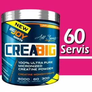 BigJoy Sports CreaBig %100 Micronized Creatine Kreatin 300 Gr 60 Servis Big Joy