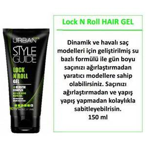 URBAN CARE STYLE GUIDE LOCK N ROLL GEL  KERATİN KOMPLEX-150ML-EXTRA GÜÇLÜ TUTUCU JÖLE