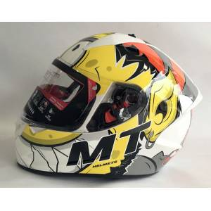Mt Kask Mt Stinger Melkor A3 Gloss White Orange