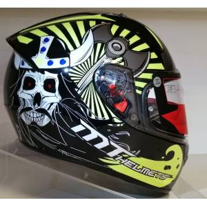 Mt Kask Mt Stinger Viking A3 Gloss Black Yellow