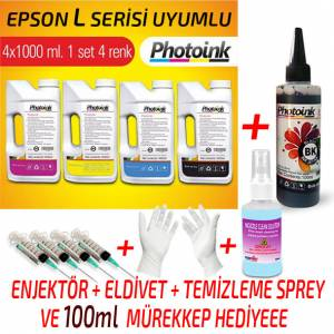 EPSON UYUMLU PHOTO INK MÜREKKEP SETİ 4X1000ml L382L386L565L3050L3060