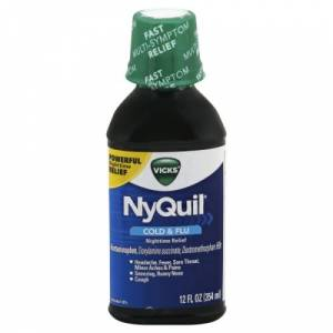 NyQuil Cold & Flu Nighttime Relief Liquid 354 ml