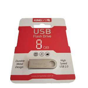 8GB METAL USB 2.0 FLASH BELLEK KİNGDATA 0003