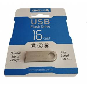16GB METAL USB 2.0 FLASH BELLEK KİNGDATA 0003