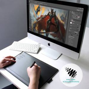 Huion New 1060 PLUS 10x6.25 Inches Graphics Drawing Grafik Tablet