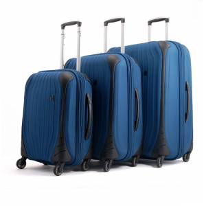 İT LUGGAGE 1744 4 TEKERLEKLİ 3'LÜ VALİZ SETİ PETROL