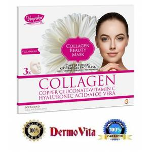 Voonka Collagen Beauty Mask Yüz Maskesi 3 Adet.