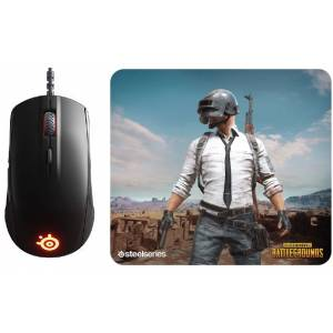 SteelSeries Rival 110 Oyuncu Mouse ve QcK+ XL Pubg Miramar Edition Mouse Pad
