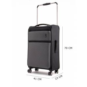 İT LUGGAGE 2058 4 TEKERLEKLİ ORTA BOY VALİZ SİYAH GRİ