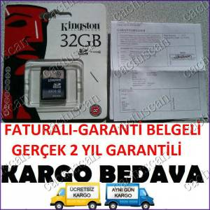 Kingston 32GB SDHC CLASS4HAFIZA GARANTİ-FATURA