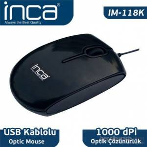 INCA IM-118K OPTİK PİANO BLACK MOUSE