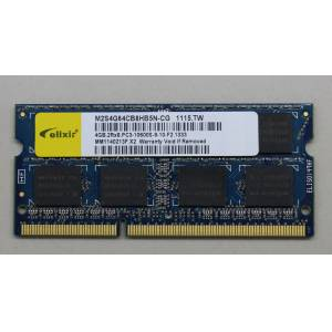 4GB PC3 DDR3 1333 10600S 1066MHZ 9-10-F2 NOTEBOOK RAM ELIXIR