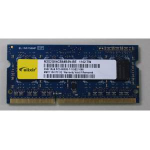 2GB PC3 DDR3 8500S 1066MHZ 07-10-B2 NOTEBOOK RAM ELIXIR