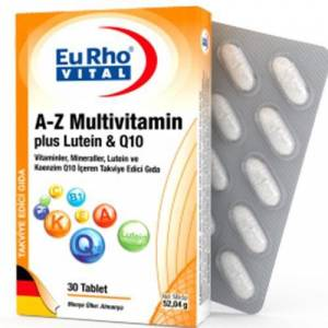 EuRho Vital A-Z Multivitamin plus Lutein  Q10 30 Tablet