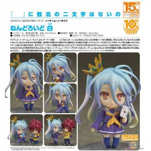 Good Smile Company Nendoroid 653 NO GAME NO LIFE Shiro Figür Anime Manga
