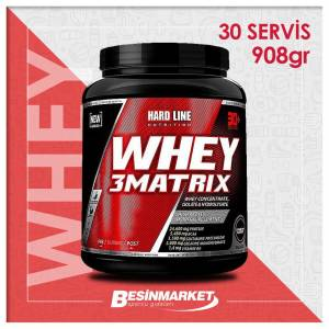 Hardline Whey 3 Matrix 908 Gr  Shaker  2 L-Karnitin Shot