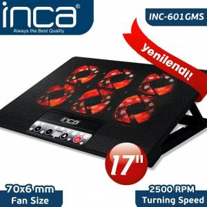 Inca INC-601GMS 6 Fanlı Gaming Notebook Laptop Soğutucu