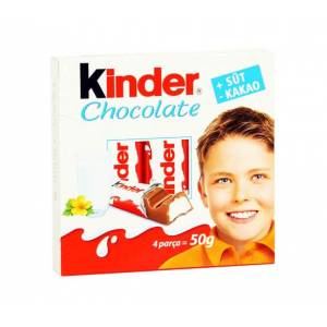 Kinder Chocolate Süt Kakao 4 lü 50 Gr