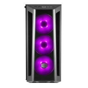 CM MasterBox MB520 Powersız Tempered Glass RGB Led 3x120mm FanlıPencereli Kasa MCB-B520-KGNN-RGB