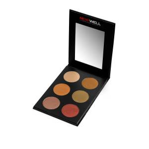NEW WELL EYESHADOW PALETTE 6 COLOURS - BROWN TONES