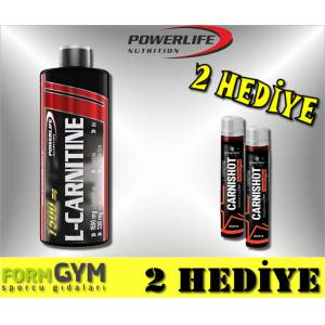 Powerlife L-Carnitine 1500 mg 1000 ml Termojenik Karnitin + 2 HEDİYE