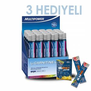 Multipower L-Carnitine Liquid 1800 Mg 20 Ampul 20 servis + 3 Hediye +2 Adet BcaaPro + 1 Whey Protein