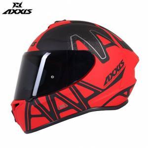 AXXIS DRAKEN DEKERS MATT RED FULL FACE KAPALI KASK 2019 YENİ ÜRÜN