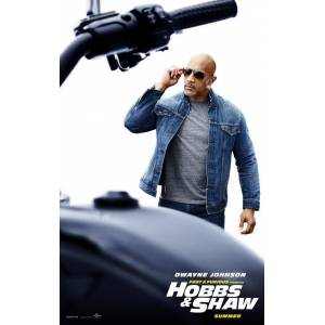 Fast and Furious Hobbs and Shaw (2019) QWEACZXD AFİŞ-POSTER ÖZEL RULO (35 cm x 50 cm) 3S4R5P6O